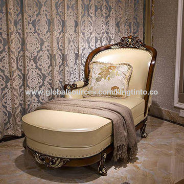 Wooden leather recliner, French classic style, exported to Canada and Australia