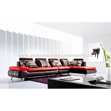 European style, modern home recliner sofa set for living room, w/ high quality and clean design